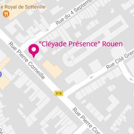 Image plan d'accès - Agence 'Cléyade Présence' de Rouen